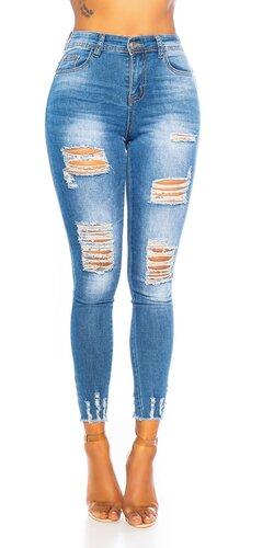 Push up džínsy roztrhané