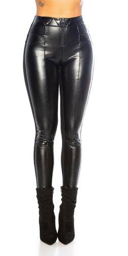 Čierne strečové nohavice