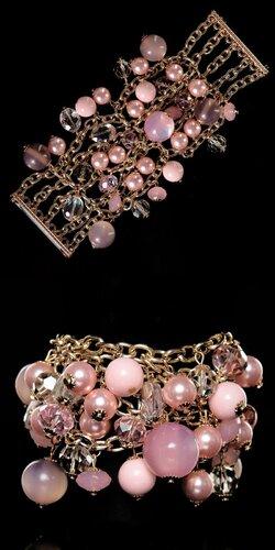 Dámsky Perlový náramok | Ružová