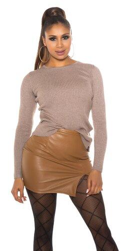 Dámsky sveter s viazaním na chrbte