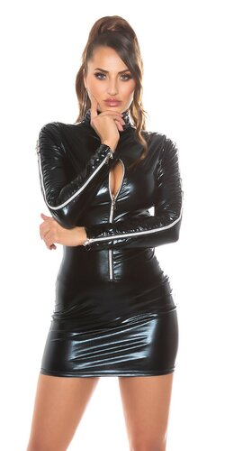 Sexy wetlook outfit so zipsami