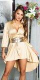 Hodvábne blúzkové šaty Zlatá