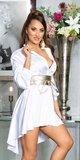 Hodvábne blúzkové šaty Biela