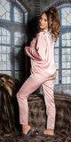Saténové pyžamo Staroružová