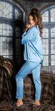 Saténové pyžamo Modrá