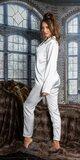 Saténové pyžamo Biela