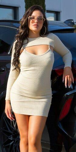 Tielkové mini šaty + crop top