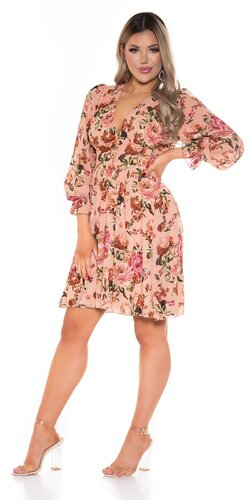 Letné šaty s kvetmi