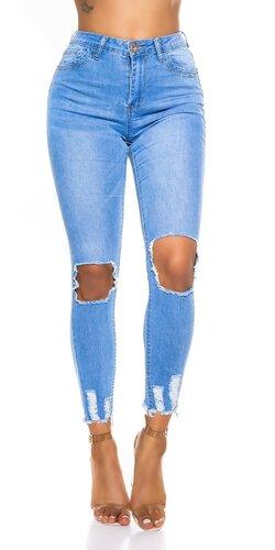 Vysoké skinny s otvorenými kolenami