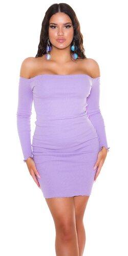 Bodycon šaty s odhalenými ramenami