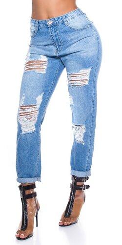 MOM roztrhané džínsy