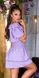 FEMININE šaty s úzkym pásom na leto Lilac