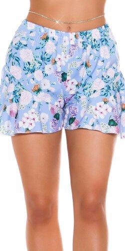 Volánové šortky s kvetinovou potlačou