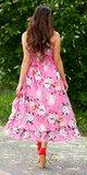 Letné latina šaty / maxi sukňa Ružová