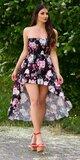 Letné latina šaty / maxi sukňa Čierna