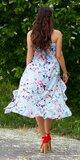 Letné latina šaty / maxi sukňa Tyrkysová