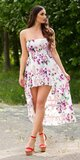 Letné latina šaty / maxi sukňa Biela