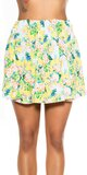 Kvetinová mini sukňa Žltá