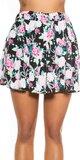Kvetinová mini sukňa Čierna