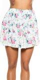 Kvetinová mini sukňa Biela