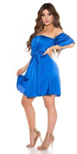 Romantické off shoulder šaty s puff rukávmi