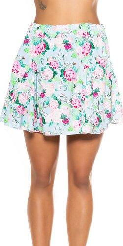 Kvetinová mini sukňa