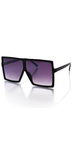 Tmavé obdĺžnikové okuliare na leto Čierna