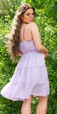 Riasené Babydoll šaty na leto Lilac