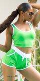 SPORTY šortkový set na leto Zelená