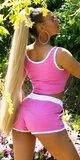 SPORTY šortkový set na leto Ružová