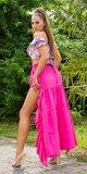 Latina High-Low sukňa Ružová