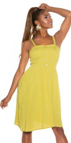 Viskózové smocked šaty na leto