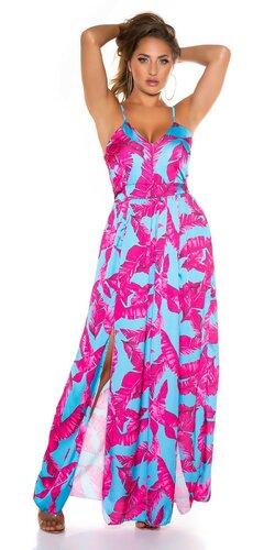 Dámske palmové šaty v maxi dĺžke