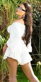 Latina letný dámsky set voľného strihu Biela