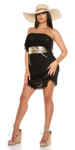 OFF-SHOULDER dámske čipkované šaty