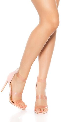 Ihličkové dámske sandále s priesvitnými remienkami