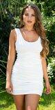 Tielkové šaty s odhaleným chrbtom Biela