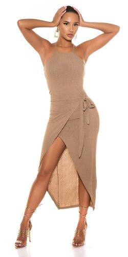 Wrap šaty s otvorenými nohami