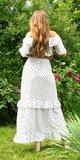 Sukňová súprava s bodkami Biela