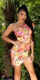 ONESHOULDER šaty Kvety Koralová