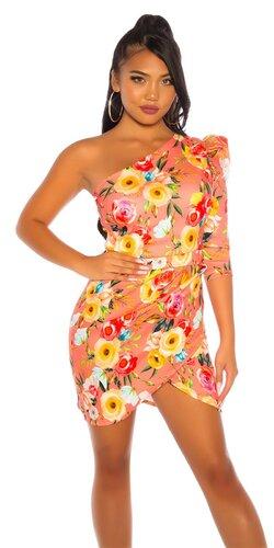 ONESHOULDER šaty Kvety