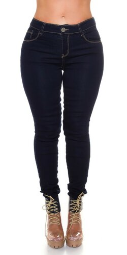 Klasické tmavé džínsy pre moletky