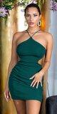 Backless mini šaty dámske Zelená