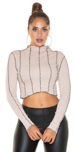 Krátky obrátený sveter