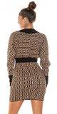 Úpletové šaty labyrint Cappuccino