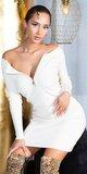 Pletené šaty so zipsom Béžová