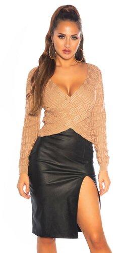 Wrap sveter so vzorom labyrint