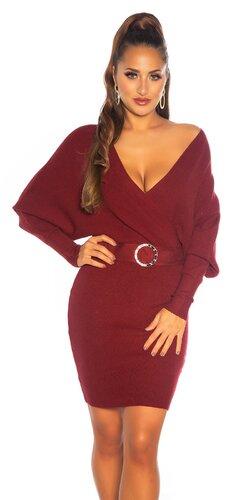 Jesenné šaty s ozdobnou prackou