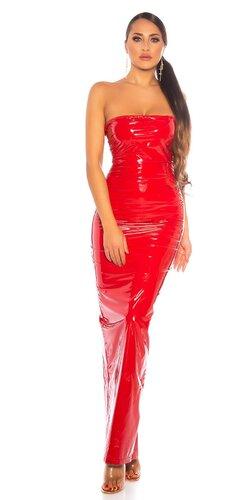 Dlhé latexové šaty
