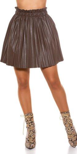 Kožená skladaná sukňa